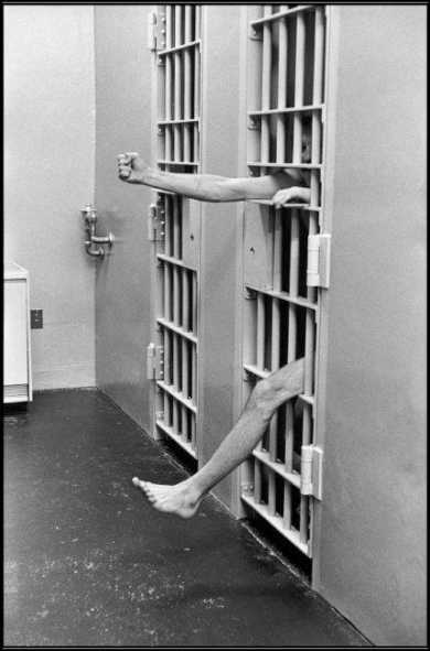 USA. New Jersey. Model prison of Leesburg. Solitary confinement. 1975. © Henri Cartier-Bresson / Magnum Photos