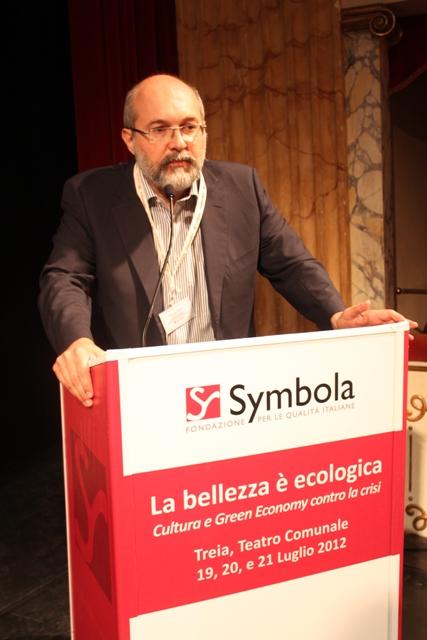 Pier Luigi Sacco alla presentazione della ricerca di Symbola