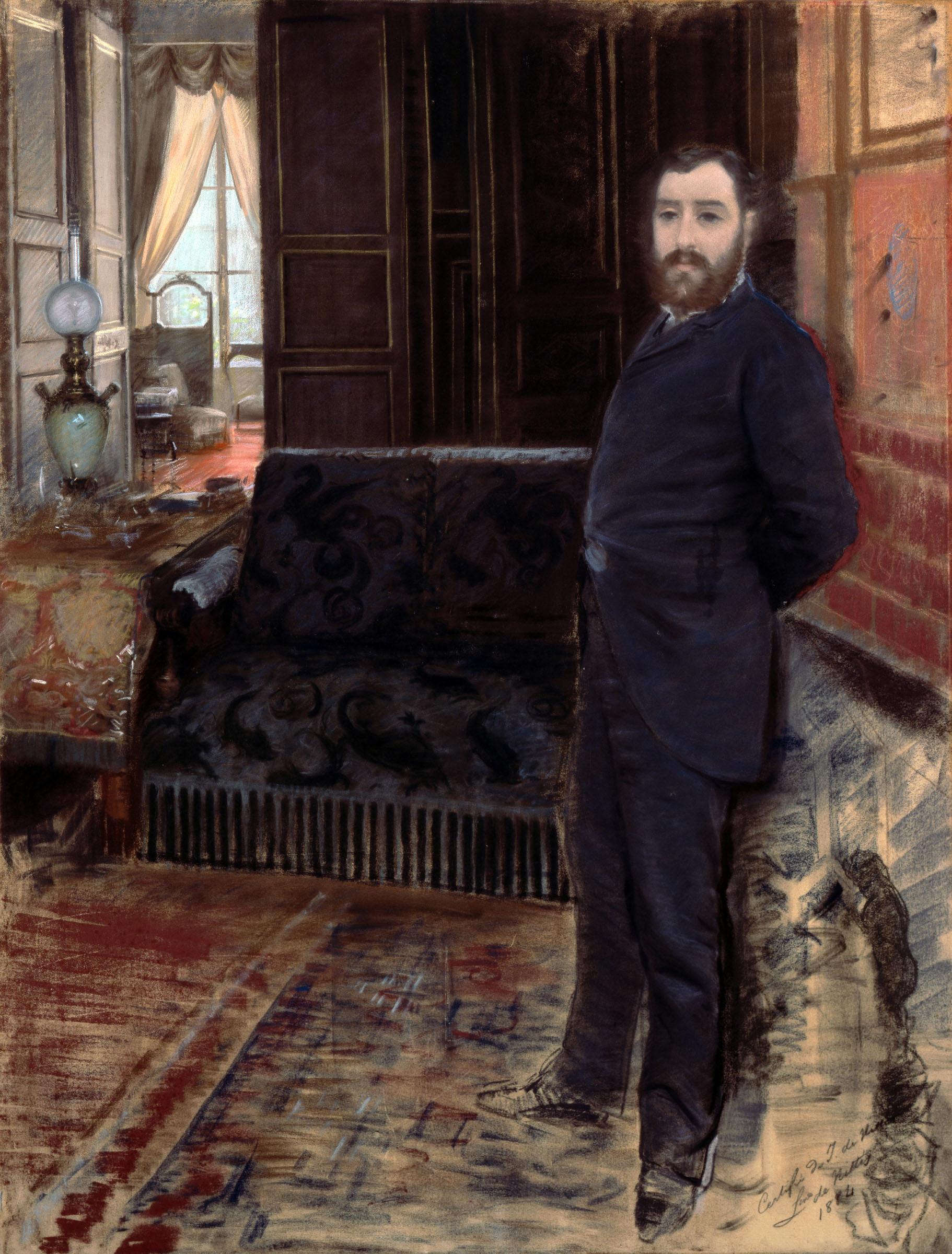 Giuseppe De Nittis Autoritratto 1883-1884 Pastello su tela