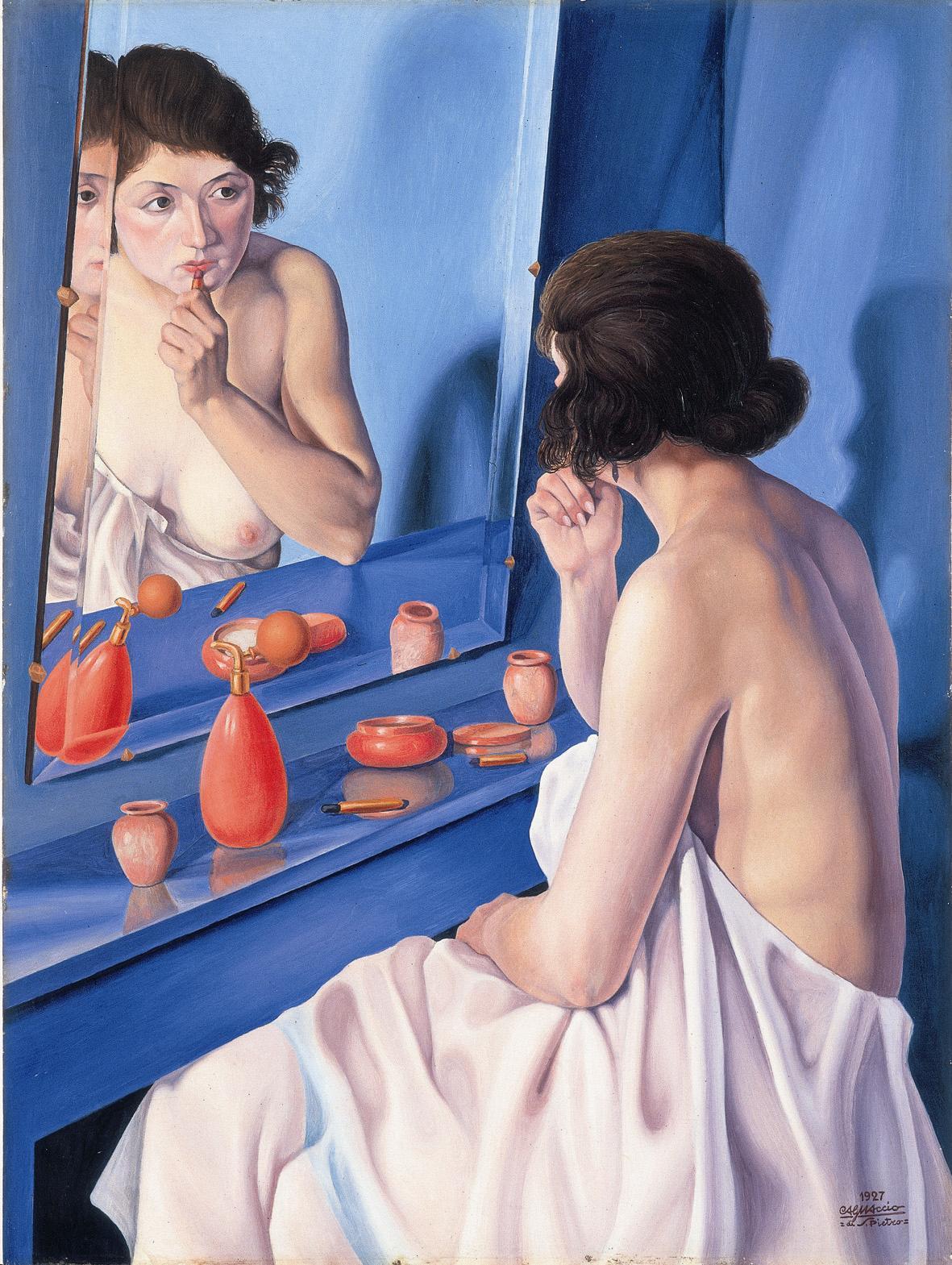 Cagnaccio di San Pietro Donna allo specchio 1927  Verona Fondazione Cassa di Risparmio di Verona