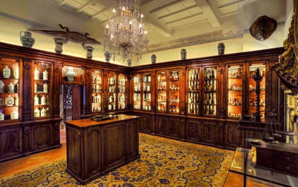 Nella foto una sala dell'Aboca Museum di Sansepolcro (Ar)
