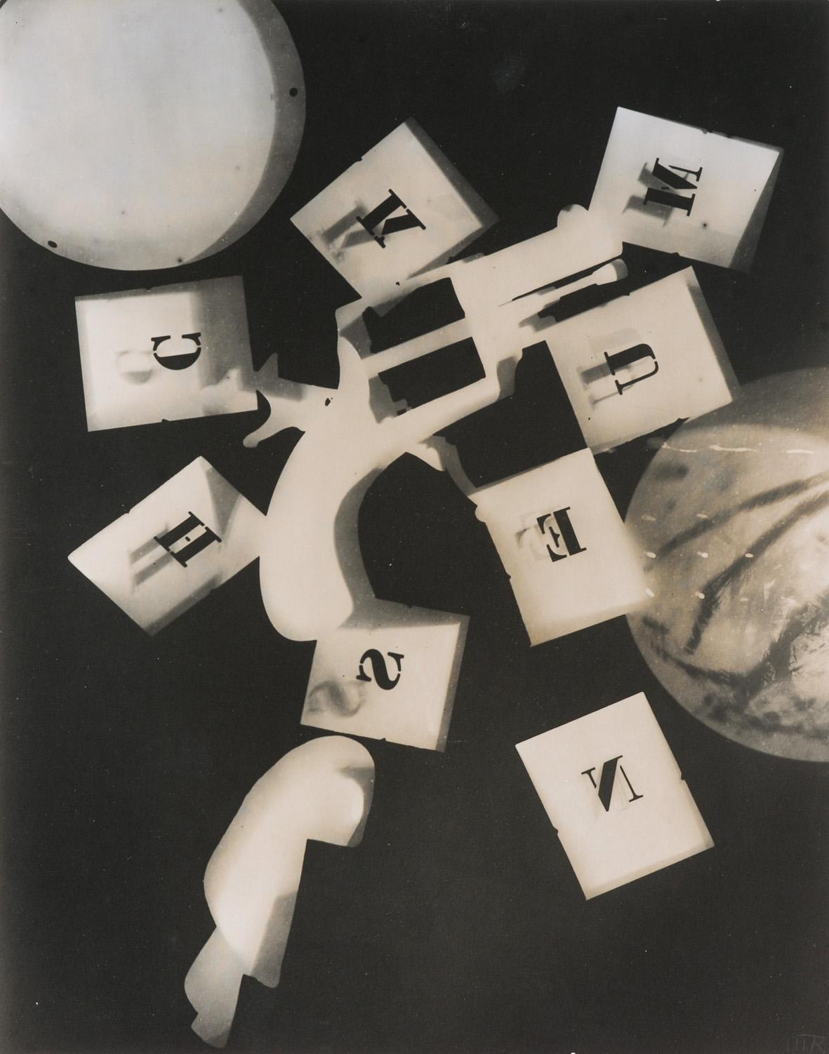 Man Ray Untitled (Gun with Alphabet Squares) 1924