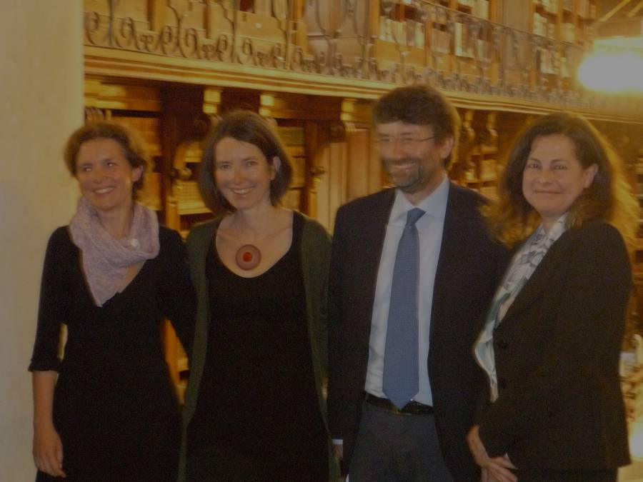 Il ministro Franceschini con Beatrice Buscaroli
