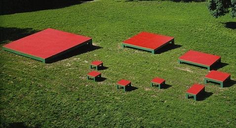 Mario Merz - Il numero ingrassa come i frutti d'estate e le foglie abbondanti. 1, 1, 2, 3, 5, 8, 13, 21, 34, 55 - 1995 © Fondazione Merz