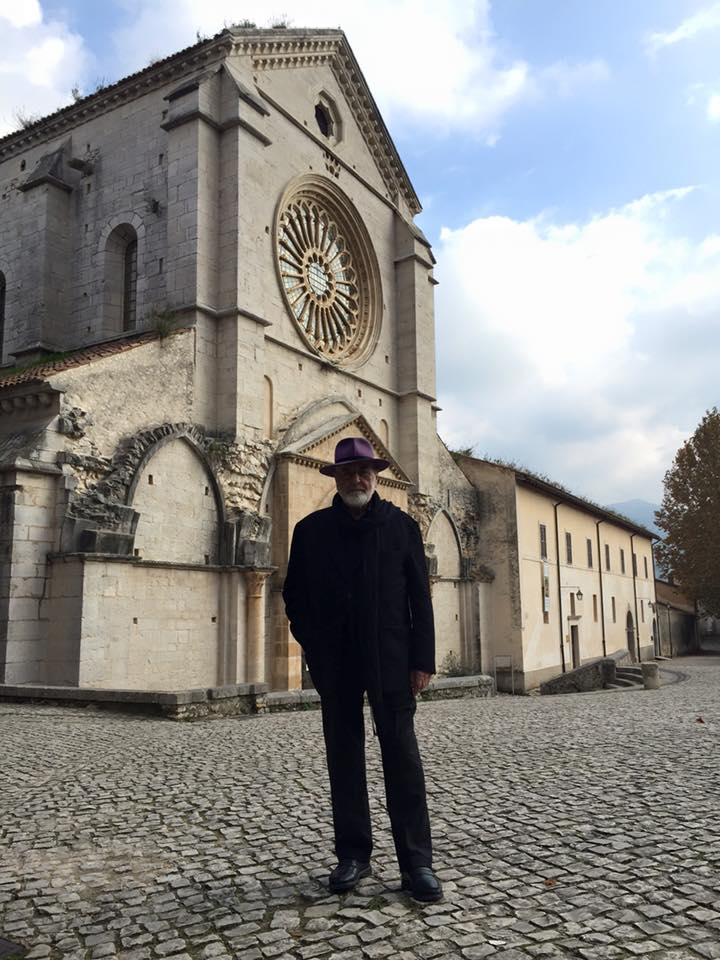 Michelangelo Pistoletto in visita all'Abbazia di Fossanova - Priverno (LT). Foto: Francesco Saverio Teruzzi