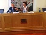 Gabriella Belli e il presidente della Fondazione Musei Civici di Venezia