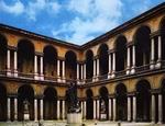 Il cortile dell'Accademia di Brera