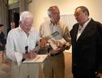 Il ministro della Cultura tedesco Bernd Neumann con Gunther Uecker ed Enrico Castellani