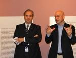 Marco Goldin (a destra) con il sindaco di Vicenza Achille Variati