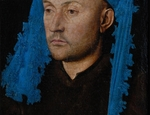 Verona Jan van Eyck Ritratto d'uomo con copricapo azzurro 1429 circa Sibiu Muzeul National Brukenthal