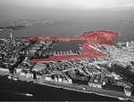 L'Arsenale di Venezia: le parti contrassegnate in rosso sono ora di proprietà del Comune