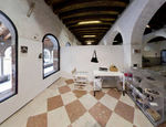 Interno degli atelier nel complesso dei santi Cosma e Damiano alla Giudecca