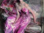 Giovanni Boldini La signora in rosa  1916 olio su tela Ferrara