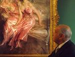 Il marchese cileno Mariano Fontecilla de Santiago Concha guarda commosso il ritratto della madre dipinto da Boldini