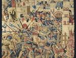 Manifattura franco-fiamminga (Tournai) Assalto finale a Gerusalemme  (dopo il restauro) 1480 circa Arazzo