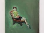 Paola Angelini, Deep Green, olio su lino, 30 x 40 cm, Collezione Privata, 2014